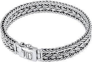 Men Bracelet Curb Cuban Chain Braided fine with Clasp...