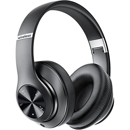 9S Bluetooth Headphones Over-Ear,Foldable Wireless Hi-Fi Stereo Headset,[60 Hrs Playtime] Wireless Bluetooth Headset Built-in Mic,6EQ Modes,Volume Control,FM for Phone/PC(Black)