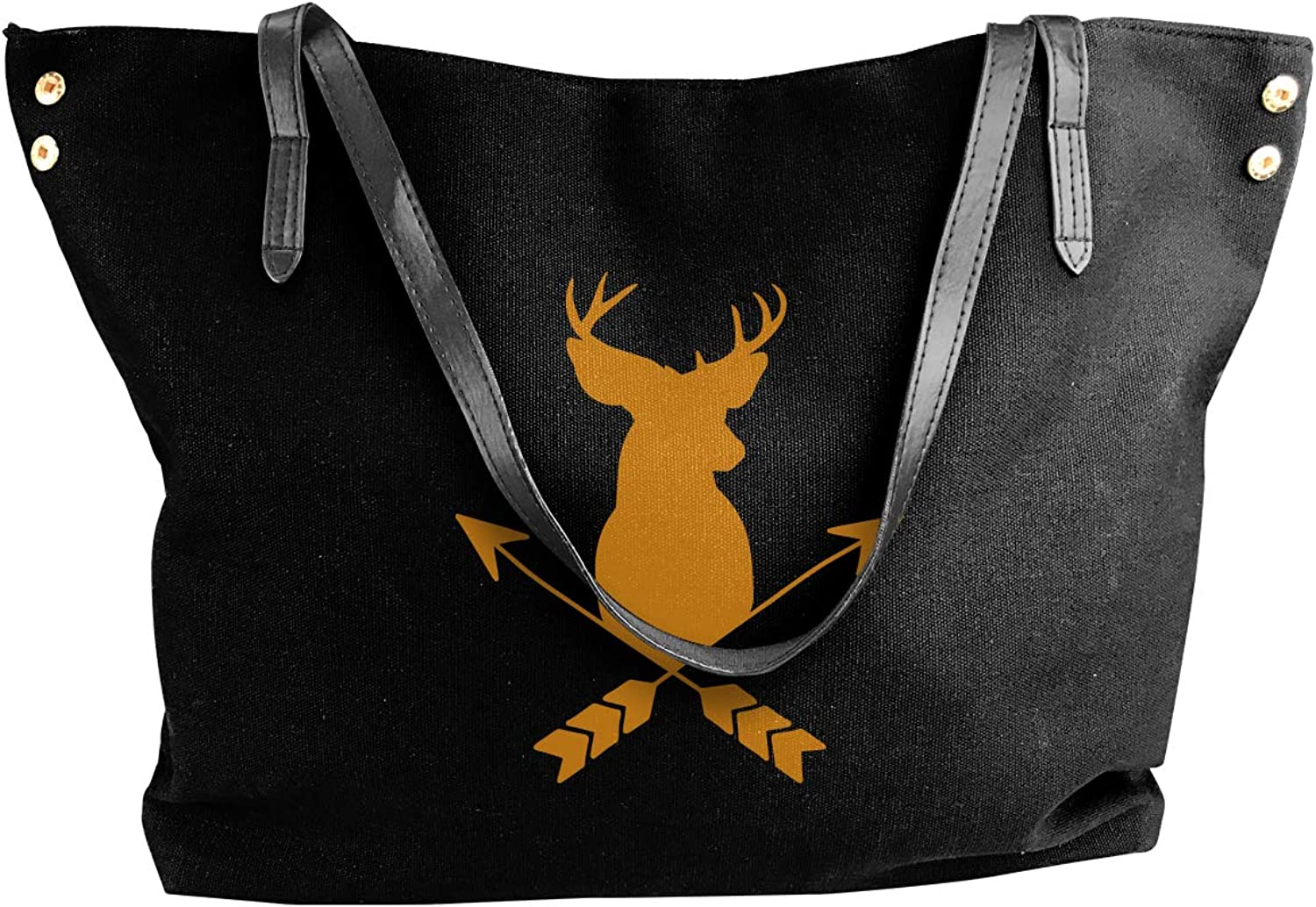 Deer Head With Arrows Women'S Leisure Canvas Sling Bag For Travel Handbag