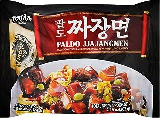Paldo Fun & Yum Jjajangmen Instant Noodles, Pack of 8, Brothless Chajang Ramen with Savory & Sweet Black Bean Sauce, Best Oriental Style Korean Ramyun, Soupless K-Food, ?? ??? 203g x 8