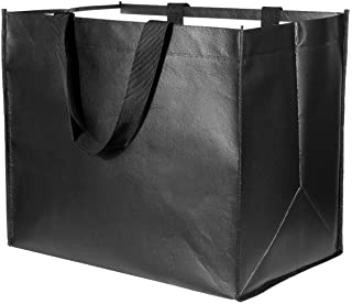 Large Reusable Grocery Bags 10 Pack Heavy Duty, Reinforced Handles with X Stitching Hold 50 lbs, Durable Shopping Tote Bag...