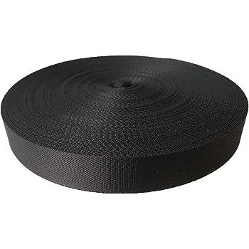 "Strapworks 1.5/"" Flat Nylon Webbing 50 yard 150 ft Rolls-BLACK"
