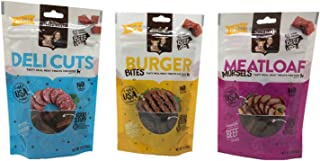 Rachael Ray Nutrish Dog Treats Variety Pack Bundle of 3 Flavors, 3 Ounces Each (Deli Cuts, Burger Bites, Meatloaf Morsels)
