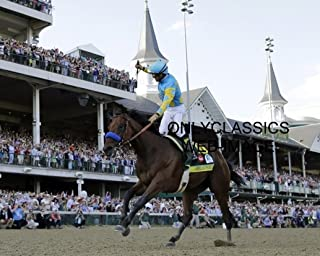 OnlyClassics 2015 Triple Crown Win American Pharaoh Belmont Stakes Horse Racing Photo Pharoah