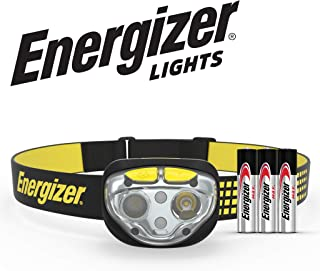 Energizer LED Headlamp Flashlight, High Lumens, For Camping Accessories, Running, Hiking, Hurricane Supplies, Survival Kit Head Lamp, Rechargeable Headlamp Option, Water-Resistant Headlight