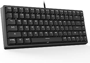 Drevo 84-Key Gramr Mechanical Keyboard with Backlit Mechanical Gaming Keyboard Brown Switch, Black