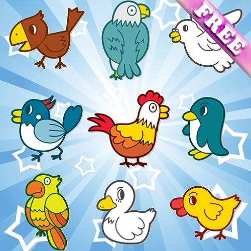 Birds Jogos de Memória para crianças e miúdos ! GRÁTIS
