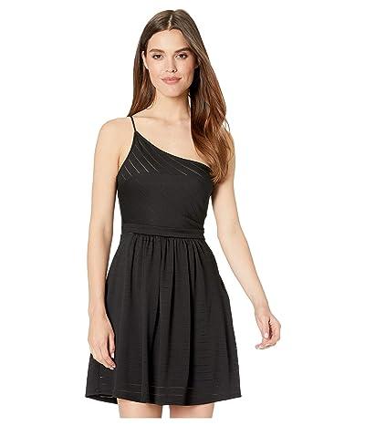 BCBGeneration Cocktail One Shoulder Knit Dress (Black) Women