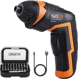 TACKLIFE Cordless Screwdriver, Electric Screwdriver, 4V MAX 2.0Ah Li-ion with Battery..