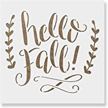 Hello Fall Stencil Template - Reusable Stencil with Multiple Sizes Available