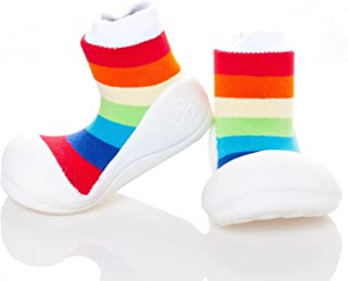 Attipas Rainbow Baby Walker Shoes, White, Small