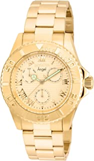 Invicta Women's Angel Quartz Watch with Stainless Steel Strap, Gold, 20 (Model: 17524)