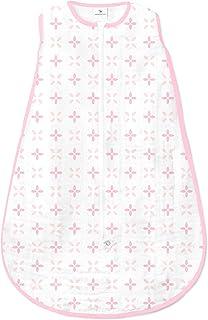Amazing Baby Muslin Sleeping Sack with 2-Way Zipper, Springfield, Pink, , Small 0-6 Month (SDA-1123P-S)