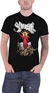 Ghost T Shirt Plague Bringer Band Logo Official Mens Black