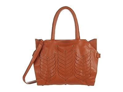 Day & Mood Fia Satchel (Cognac) Handbags