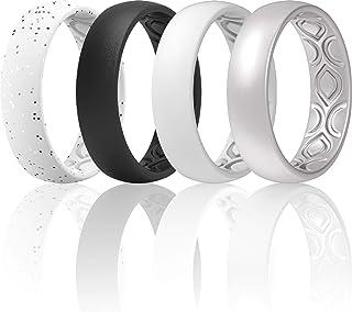 خاتم زفاف من السيليكون المسامي للنساء من ثاندرفيت 5.5 مم - 12 حلقة / 8 حلقات / 4 حلقات / 1 خاتم