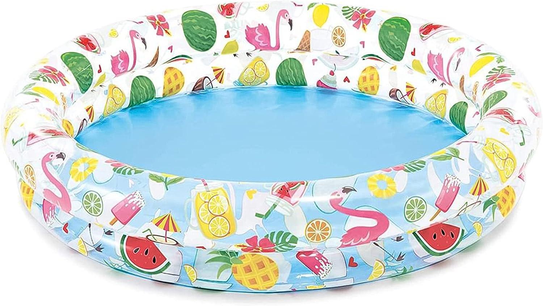 com-four® Piscina Infantil Redonda - Piscina Infantil Hinchable - Piscina - Pequeña Piscina emergente para el jardín - Aprox. 120 x 25 cm
