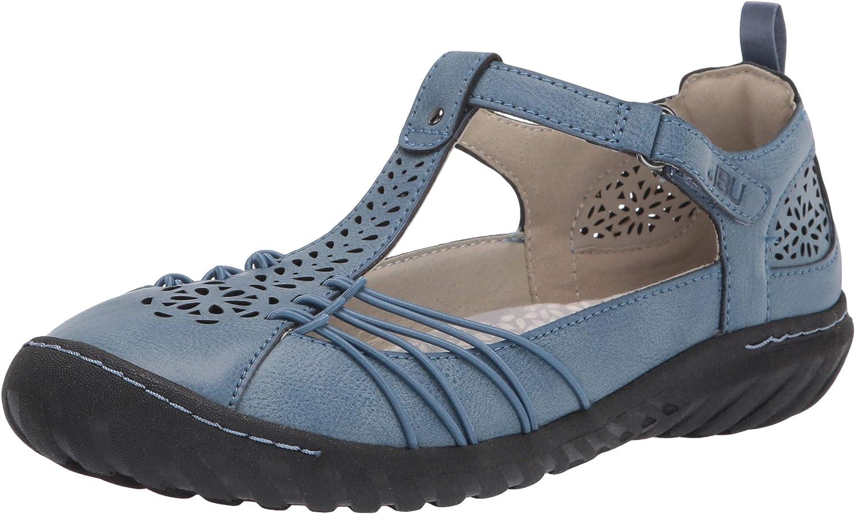 Sales JBU by Jambu Women's Sahara T-Strap Max 83% OFF Mary Flats Jane