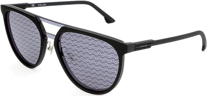 Occhiali da sole police sonnenbrille spl586 , nero (schwarz), 99.0 unisex-adulto