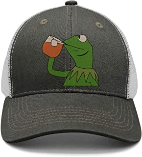 6509efde3ff SYWHPS Kermit The Frog Dad Hat Cap Sipping Sips Drinking Tea Champion  Lebron Costume