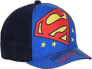 Gorra para bebé/niño Superman, color azul y rojo, de 9 meses a 3 años