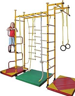 NiroSport FitTop M3 HS klätterutrustning grovvägg träningsvägg barnsportbil hemsport med träproppar och dragstång inkl. vr...