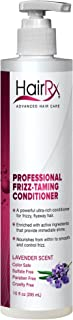 HairRx Professional Frizz-Taming Conditioner with Pump, Lavender Scent, 10 Ounce