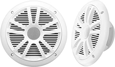 BOSS Audio Systems MR6W 180 Watt Per Pair, 6.5 Inch, Full Range, 2 Way Weatherproof Marine Speakers Sold in Pairs