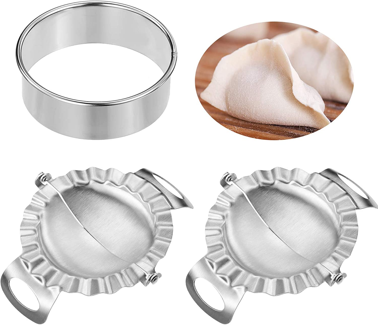2 Pieces Dumplings Maker Stainless A surprise price is realized Molds Dum Very popular Dumpling Steel with
