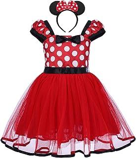 IBAKOM Enfants Filles Minnie D/éguisement Princess Robes Jupe /à Pois Gosse Manche Courte Robe f/ête Jour de Naissance Carnaval Festival Costume D/éguis/é