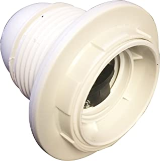 Electraline 71128 Threaded E27 Light Bulb Socket with 2 Rings White