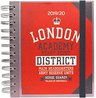 Erik Agenda ESCOLAR London Daily Planner, Dated Middle School or High School Student Planner for Academic Year 2019-2020, 10 Months (Sep 19 - June 20), 5.5X 6.3 inches, Pack of 1, ADPM1908