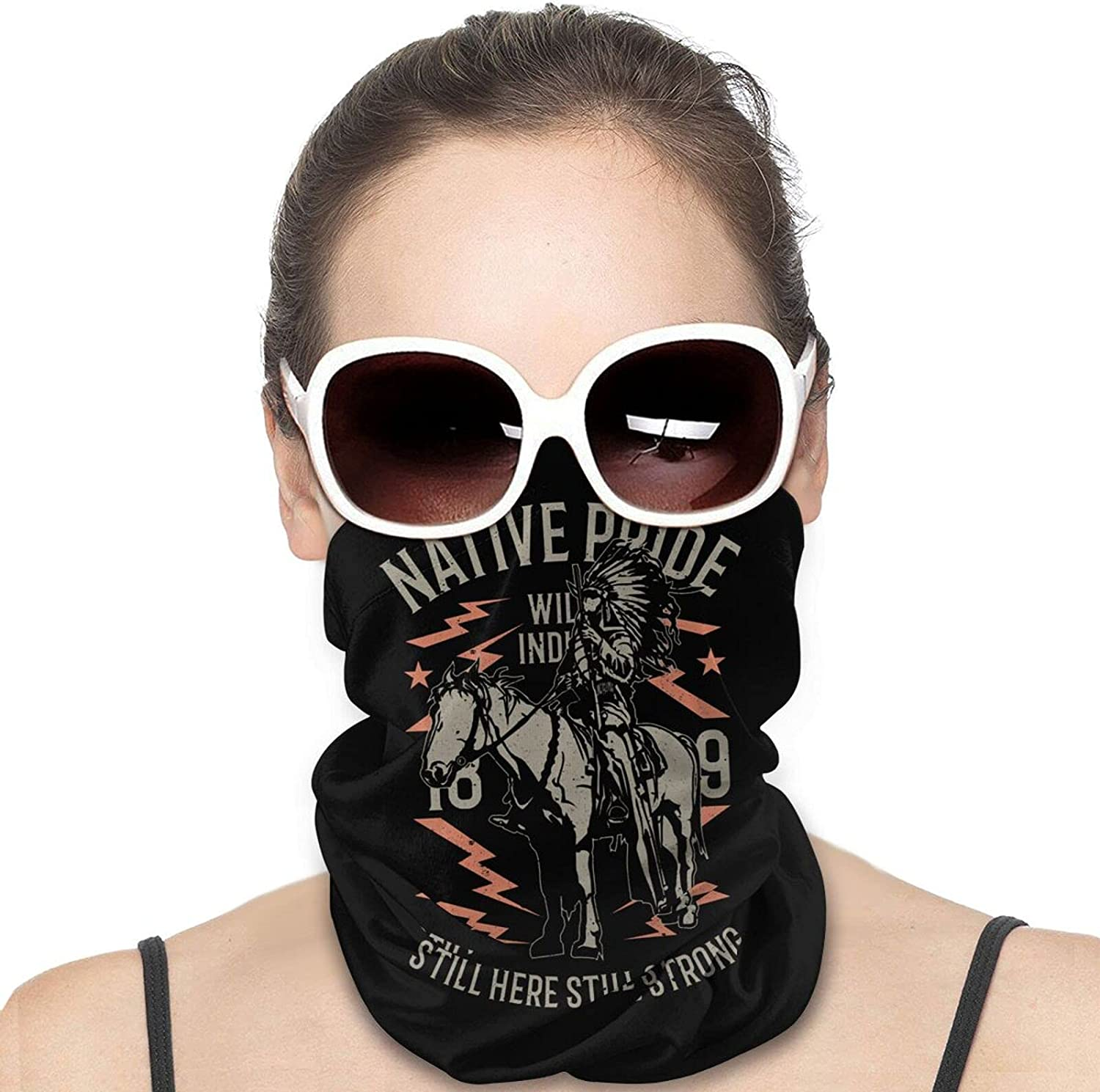 Native Pride Round Neck Gaiter Bandnas Face Cover Uv Protection Prevent bask in Ice Scarf Headbands Perfect for Motorcycle Cycling Running Festival Raves Outdoors