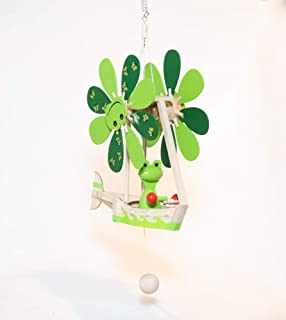 Wupper Airlines Wooden Hanging Frog Mobile (Windwheel, Green)