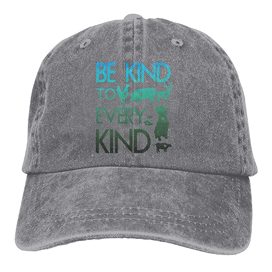Mens Womens Baseball Cap Hat Be Kind to Every Kind Vegan Vegetarian Cotton Jean Dad Hat for Women