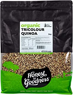 Honest to Goodness Organic Tricolour Quinoa, 5kg