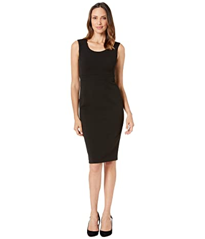 Calvin Klein Solid Sheath Dress (Black) Women