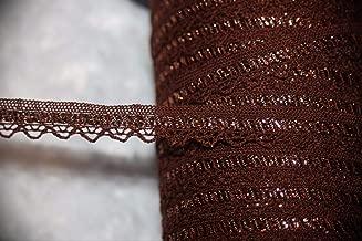 2 Yards Metallic Bronze Copper RIC Rac Crochet Sewing Craft Assorted Pattern Ribbon Lace Trim 1/2