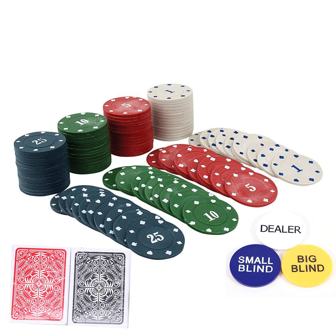 Buy Styleys Round Plastic Poker Chips Set 100 Plastic Online At Low Prices In India Amazon In