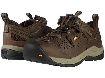 Keen Utility Atlanta Cool II ESD (Soft Toe) (Cascade Brown/Forest Night) Men