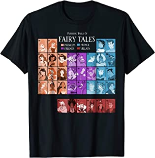 Princess Periodic Table Fairy Tales Graphic T-Shirt
