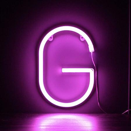 Brief A Wandbehang batteriebetrieben Smiling Faces UK Neon LED wei/ße Buchstaben Licht Zeichen