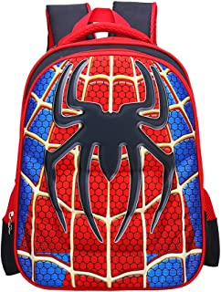 School Backpack for Boys Kids Schoolbag Student Bookbag Rucksack Waterproof Shoulder Bag Daypack with Anime Super Hero (A06, Small:15x11x4.7 in)