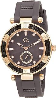 Gc Womens Quartz Watch, Analog Display And Silicone Strap - Y55003L5MF