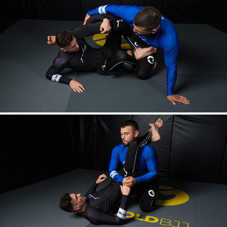 Ranked No-Gi and Gi Jiu Jitsu Rashguard Gold BJJ Foundation Rash Guard
