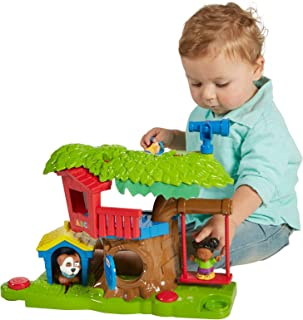 Fisher-Price Little People Swing & Share Treehouse Playset (Renewed)