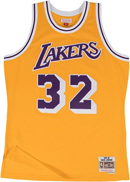 Outerstuff Youth Magic Johnson Los Angeles Lakers Gold Hardwood Classic Jersey