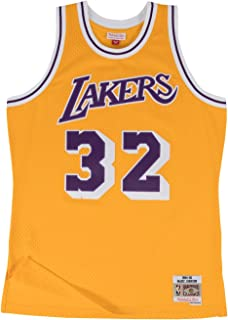 f91cc7b92 Magic Johnson Los Angeles Lakers Mitchell and Ness Men s Gold Throwback  Jesey