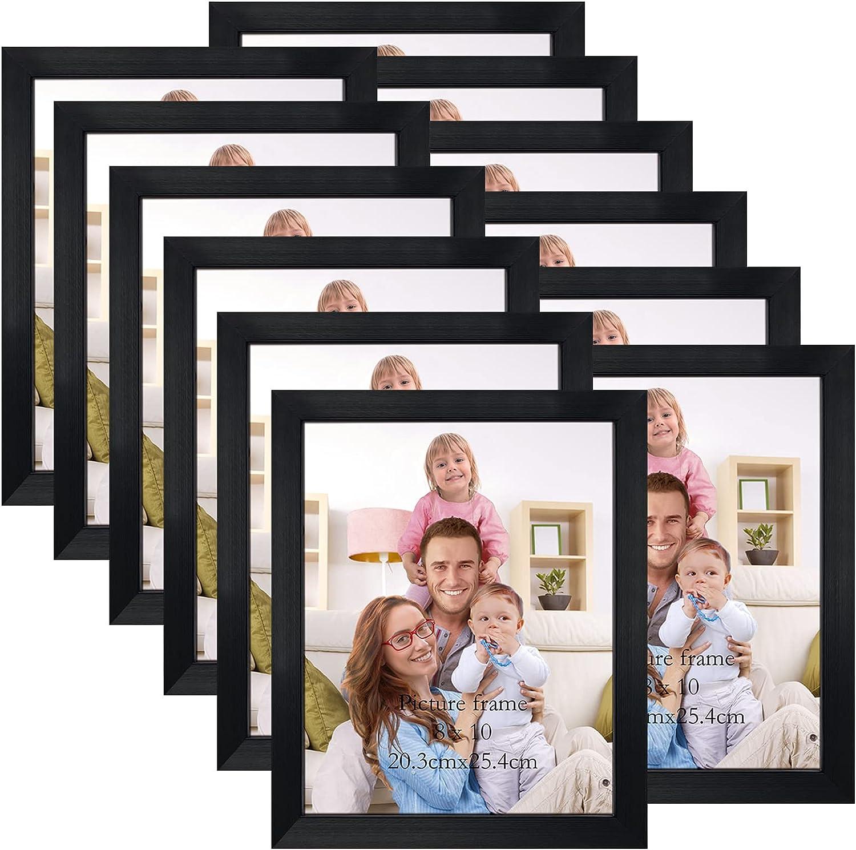 Giftgarden Black 8x10 Picture Frame Houston Mall Bulk 10 Fra Multi Surprise price Photo x 8