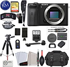 $1198 » Alpha a6600 Mirrorless Digital Camera (Body Only) with Deluxe Bundle: Includes – Sandisk Extreme Card, Spare NPFZ100 Battery, Charger for NPFZ100, and More!